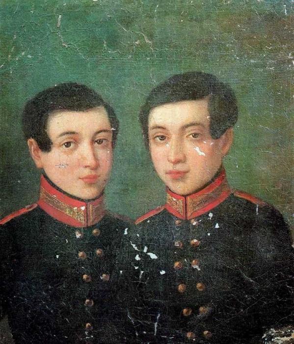 Портрет близнецов Аркадия и Ивана Корниловых