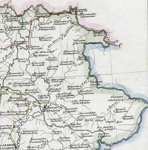 Карта 1822 года