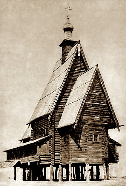 Деревянная церковь Преображения. фотография