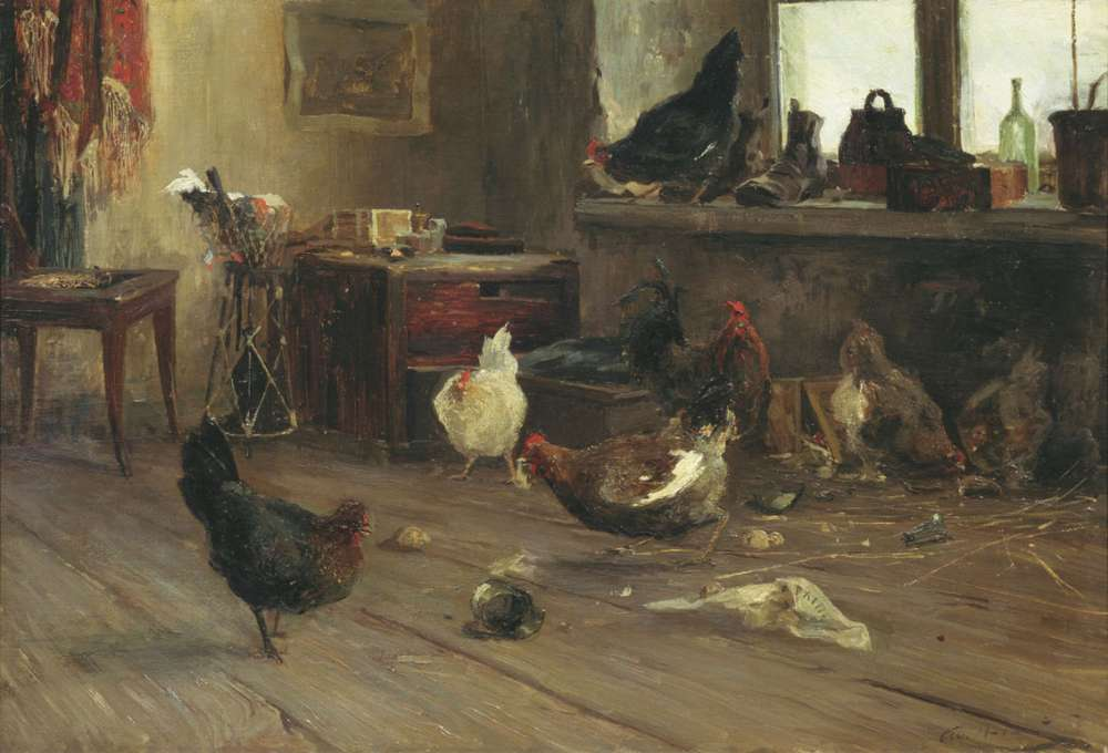 «Куры» холст, масло — Государственная Третьяковская галерея
