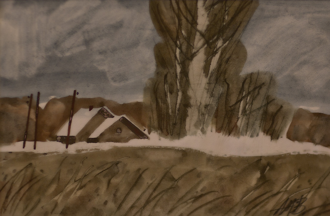 Картины Алексея Мухина, Акварель