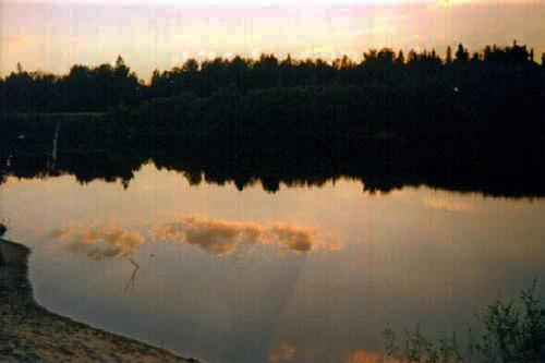 Ветлуга на закате близ города шарья