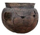 Лепной керамический округлодонный горшок. Фатьяновская культура. 2 тыс. до н. э. Горицкий могильник.